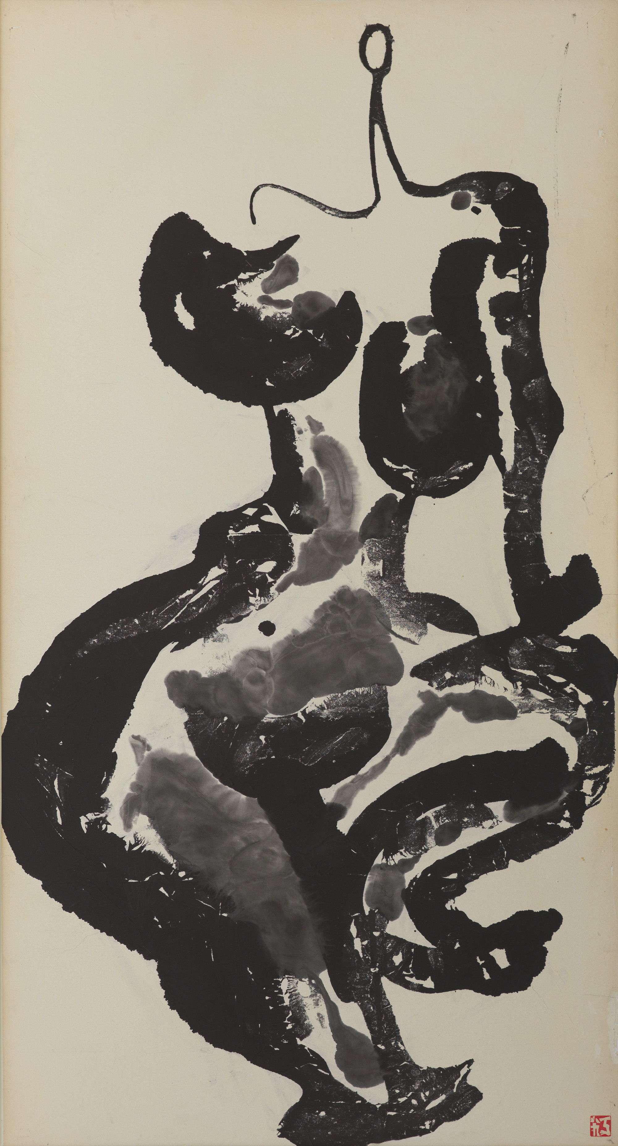 Untitled, ink on paper, 180 x 100 cm, 1989