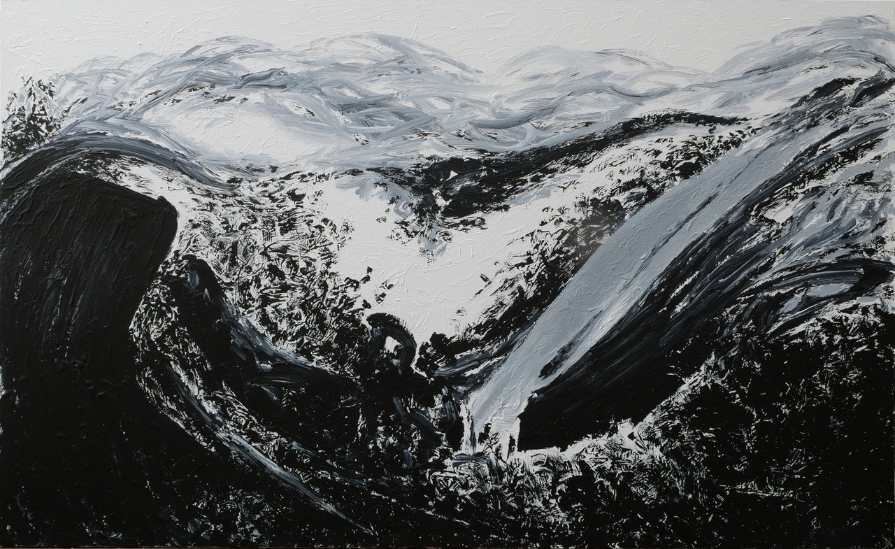 Untitled, acrylic on canvas, 180 x 300 cm, 2020